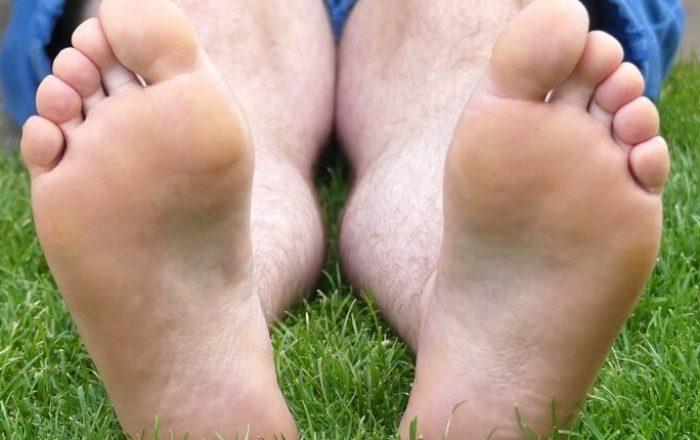 Glatte, weiche Füße